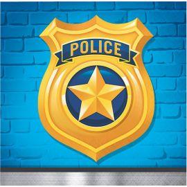 16 Servilletas Policia 25 cm