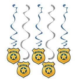 5 Pendentifs Police