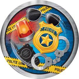 8 Assiettes Police 23 cm