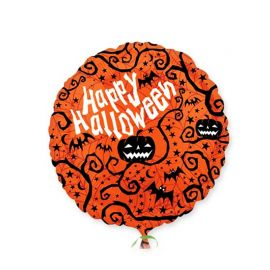 Ballon Citrouille Happy Halloween