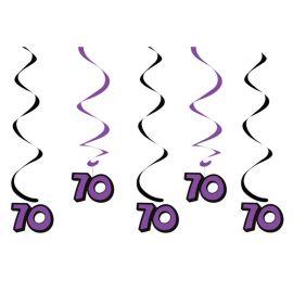 5 Pendentifs 70ème Anniversaire