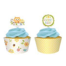 Caissette et Pique à Cupcake happy Tree
