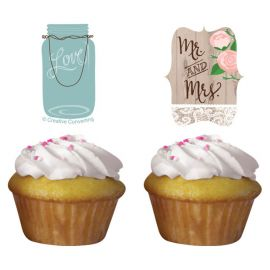 Kit Cupcakes Mariage Rustique