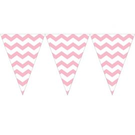 Banderole Triangle Chevron Rose