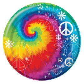 8 Assiettes Hippie 18 cm