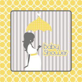 16 Serviettes Baby Shower 33 cm