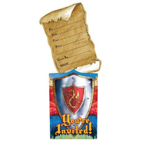 8 Invitaciones Medieval