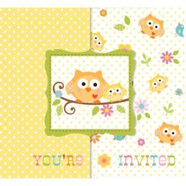 8 Invitations Happi Tree