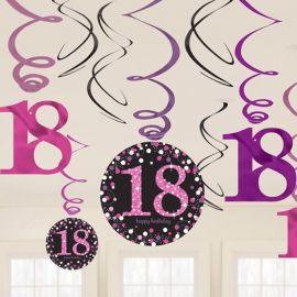 12 Pendentifs 18 Chic Pink