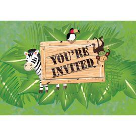 8 Invitations Safari