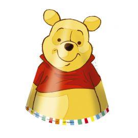 6 Gorros de Papel Winnie the Pooh