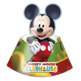 6 Chapeaux de Papier Mickey Mouse