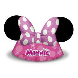 6 Chapeaux en Carton Minnie Mouse
