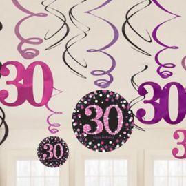 12 Pendentifs 30 Elegant Pink