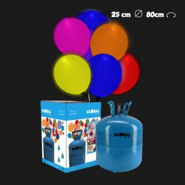 Bouteille Hélium Petite avec 30 Ballons Led