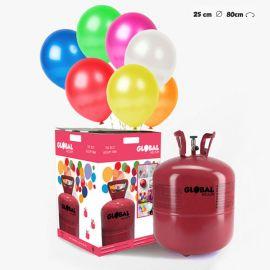 Grande Bouteille d'Hélium avec 50 Ballons Métallisés