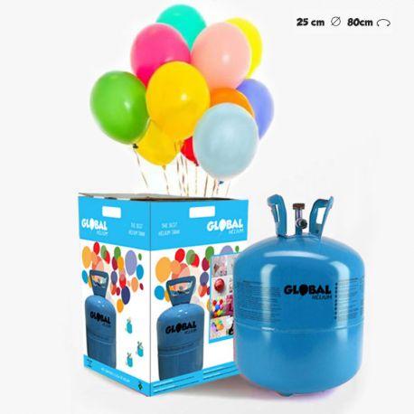 Bouteille d'Hélium Petite avec 30 Ballons Pastels