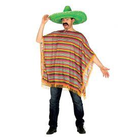 Déguisement Mexicain pour Homme avec Poncho Coloré