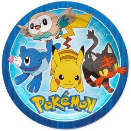 8 Assiettes en Papier Pokémon 23cm