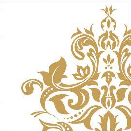 36 Servilletas Bodas de Oro 33 cm