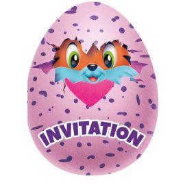8 Invitations Hatchimals