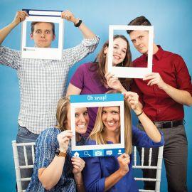 3 Cadres Réseaux sociaux pour Photobooth