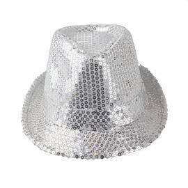 Chapeau à Sequins Metallisés