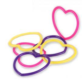 6 Jouets Bracelets Coeur