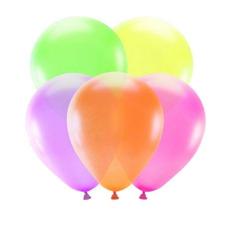 5 Ballons Néons