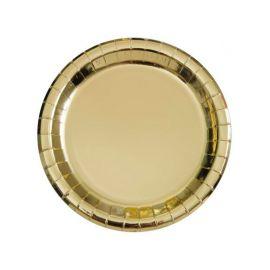 8 Assiettes Metallisées 18 cm