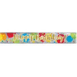 Pancarte Gold Happy Birthday 3,6 m