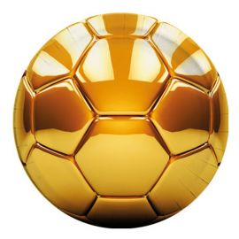 8 Assiettes Football Gold 23 cm