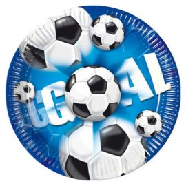 8 Assiettes Football Goal 23 cm