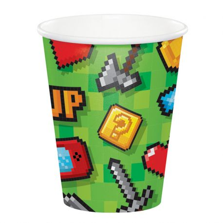 8 Gobelets Jeux-vidéos 266 ml