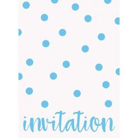8 Invitaciones con Lunares