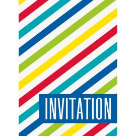8 Invitations à Rayures