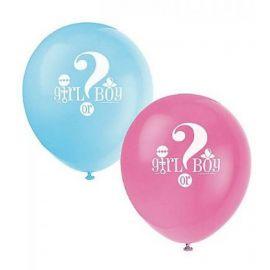 8 Ballons Gender Reveal Latex 30 cm