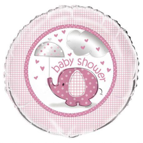 Ballon Baby Shower Éléphant Fille Mylar 46 cm