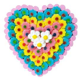 Tarta de Chuches Corazón de Flores