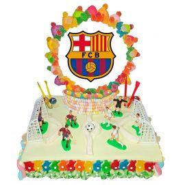 Gateau de Bonbons Terrain de Foot Barça