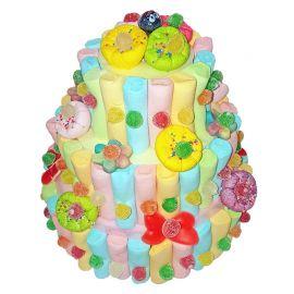 Gâteau de Bonbons 3 Étages Multicolore