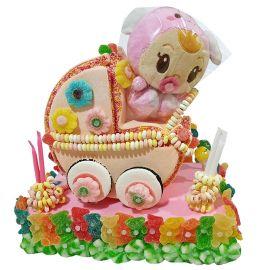 Gâteau de Bonbons Poussette Bébé