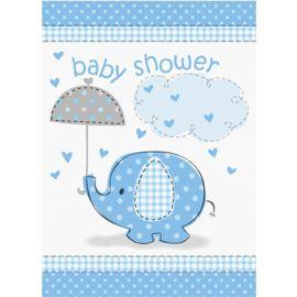 8 Invitaciones Baby Shower Elefante Niño