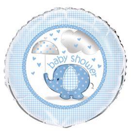 Ballon Baby Shower Éléphant Garçon Mylar 46 cm