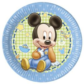 8 Assiettes Baby Mickey 23 cm