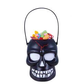 Porte-bonbons Crâne Noir