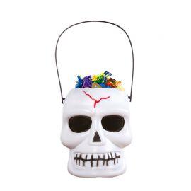 Porte-bonbons Crâne Blanc