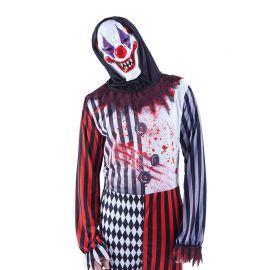 Masque de Clown Fou avec Capuche