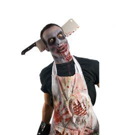 Serre Tête Zombie avec Couteau de Boucher