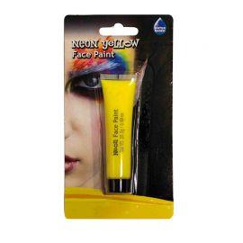Maquillage du Visage au Néon Jaune